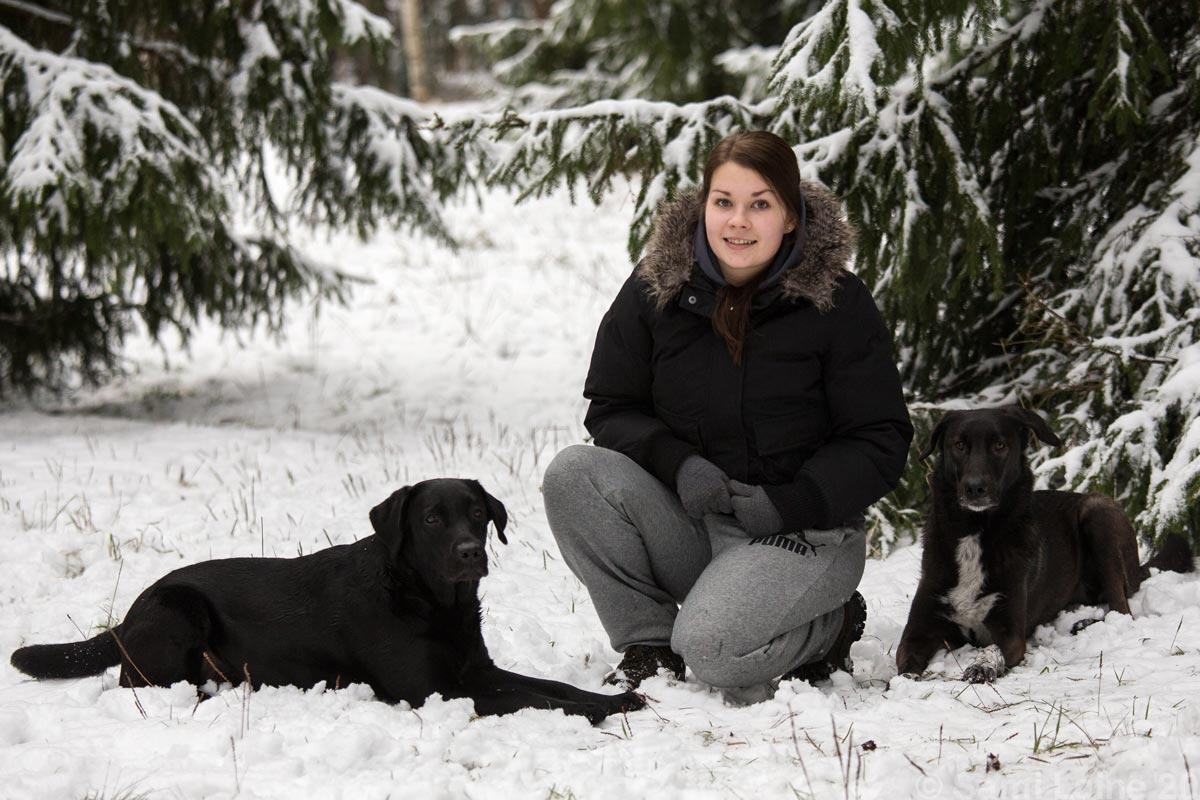 Kia Stenlund ja koirat